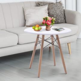 Table Basse blanc bois naturel JUNE