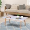 Table basse Stockolm blanche et bois