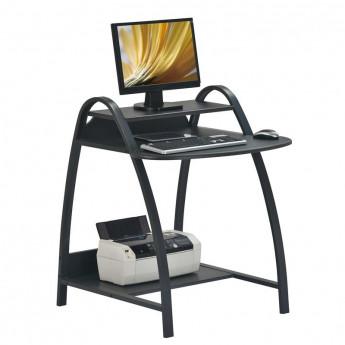 Petit bureau informatique avec chassis en métal - couleur noir