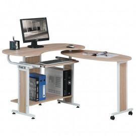 Bureau Informatique Nestor - Aspect bois de chêne
