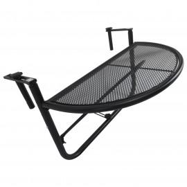 Table suspendue pour balcon métal noir