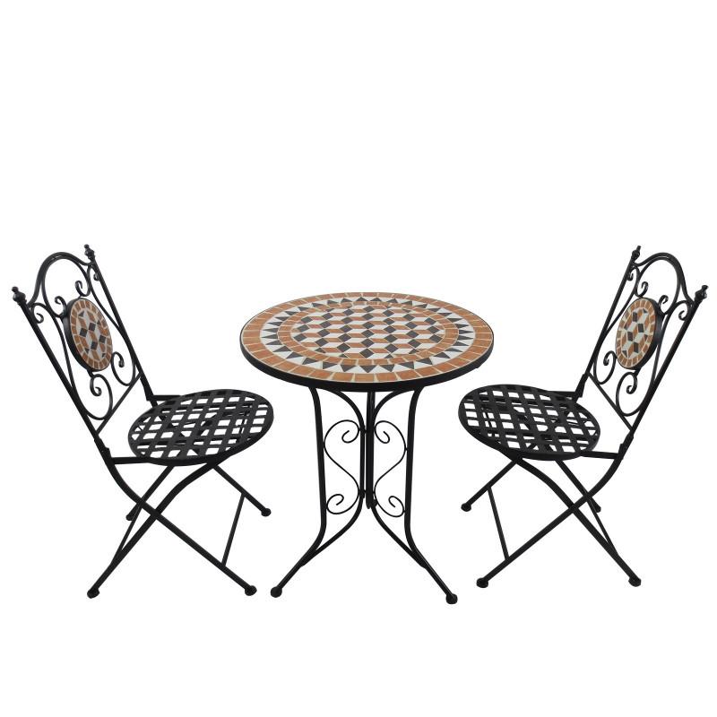 Ensemble table et chaises de jardin Montmartre esprit Bistro Multi ...