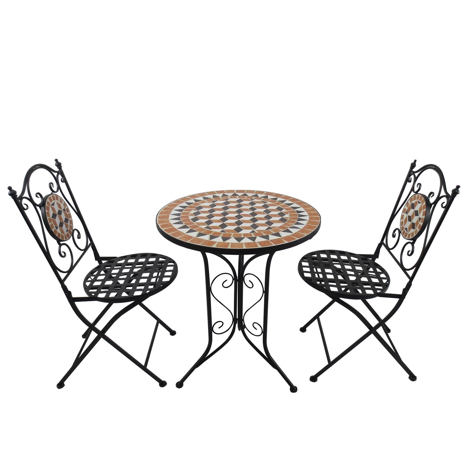Ensemble table et chaises de jardin Montmartre esprit Bistro ...