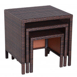 Ensemble de Tables Gigognes Mimizan Marron