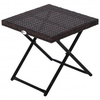Table basse d\'appoint pliante Bidart Marron - MyCocooning