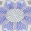 Salon de jardin mosaïque ronde métal céramique tricolore