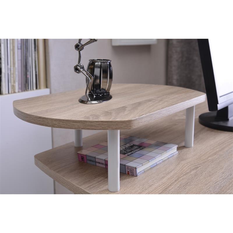 bureau informatique avec tablette coulissante et tag res. Black Bedroom Furniture Sets. Home Design Ideas