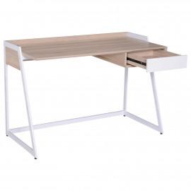 Bureau avec tiroir Eddy Chêne et blanc