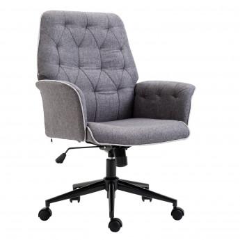 Fauteuil de bureau TIMON confortable et design gris