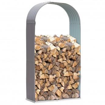 Abri pour bois de chauffage Noé Gris