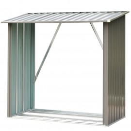 Abri de jardin Forestia en acier galvanisé gris