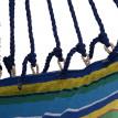 Hamac Extérieur Intérieur avec Repose-Pied Bleu Jaune