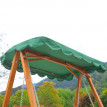 Balancelle de Jardin en Bois Massif toit vert 3 Places