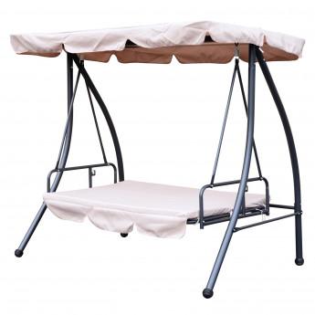 Balancelle fauteuil de jardin en acier Beige – STELIA