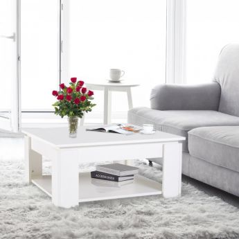 Table basse mignonne blanche