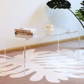Table Basse en Acrylique Transparente Ilot
