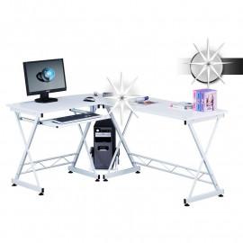 Bureau informatique - blanc brillant