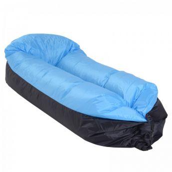 Hamac Gonflable bleu PE Bleu