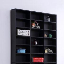 Etagère Rangement CD/DVD France noire Meuble de Rangement pour 1116 CDs Noir