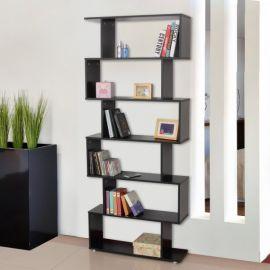 Bibliothèque Etagère noire Zébrure 6 Niveaux