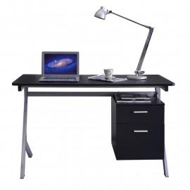 Bureau informatique Noir/Gris