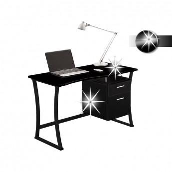 Bureau informatique - noir brillant