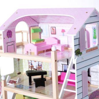 Maison de poupée Églantine rose