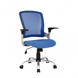 Chaise de bureau Juan Bleue