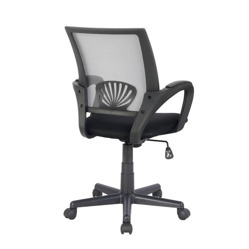 chaise de bureau joe grise noire. Black Bedroom Furniture Sets. Home Design Ideas