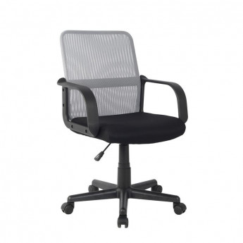 Chaise de bureau Noa Noire/Grise
