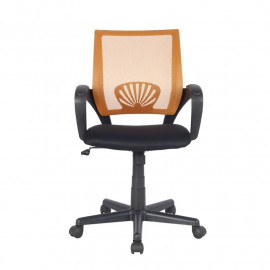 Chaise de bureau Orange/Noire