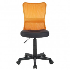 Chaise de bureau Flo Orange/Noire
