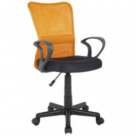 Chaise de bureau Mio Orange/Noire