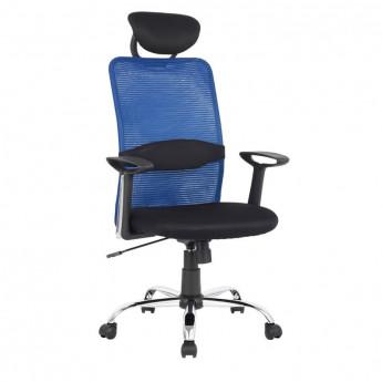 Chaise de bureau pivotante Goha Bleue