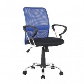 Chaise de bureau pivotante Santi Bleue/Noire