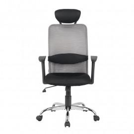 Chaise de bureau pivotante Goha Grise