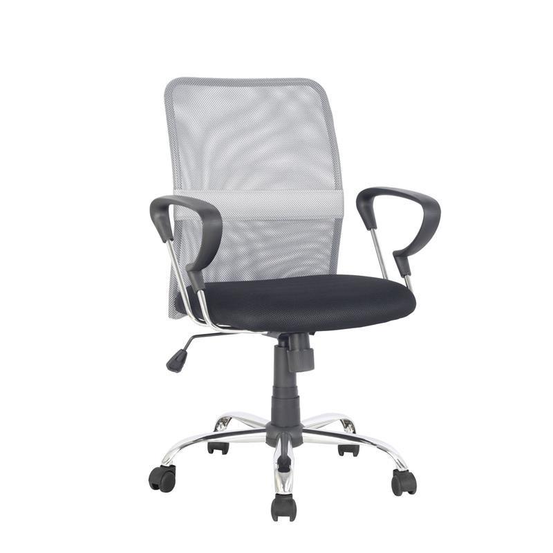 Chaise de bureau pivotante santi grise noire - Chaise de bureau noire ...