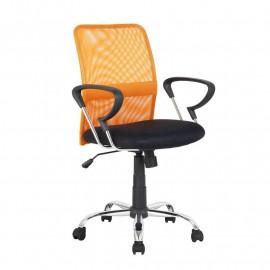Chaise de bureau pivotante Orange/Noire