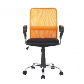 Chaise de bureau pivotante Orange/Noire