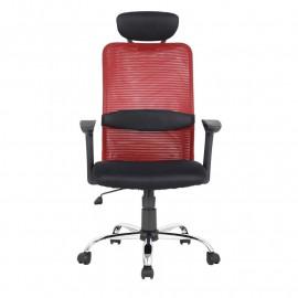 Chaise de bureau pivotante Goha Rouge