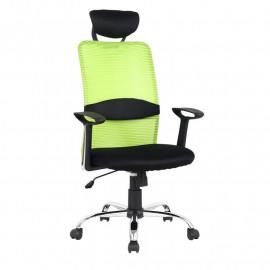 Chaise de bureau pivotante Goha Verte