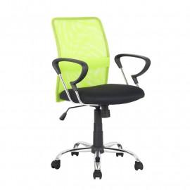 Chaise de bureau pivotante Santi Verte/Noire