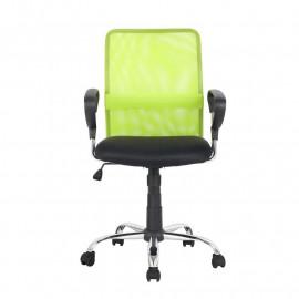 Chaise de bureau pivotante Verte/Noire