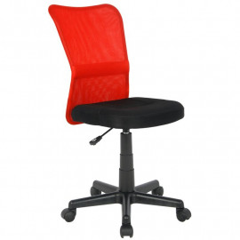 Chaise de bureau Flo Rouge/Noire
