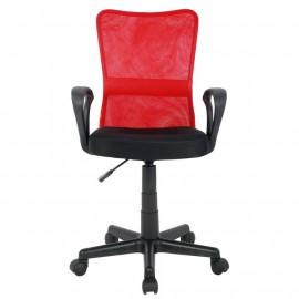 Chaise de bureau Mio Rouge/Noire