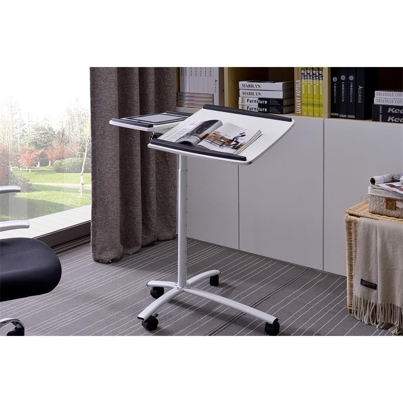 table d 39 appoint informatique pilo blanche. Black Bedroom Furniture Sets. Home Design Ideas