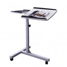 Table d'appoint informatique Blanche