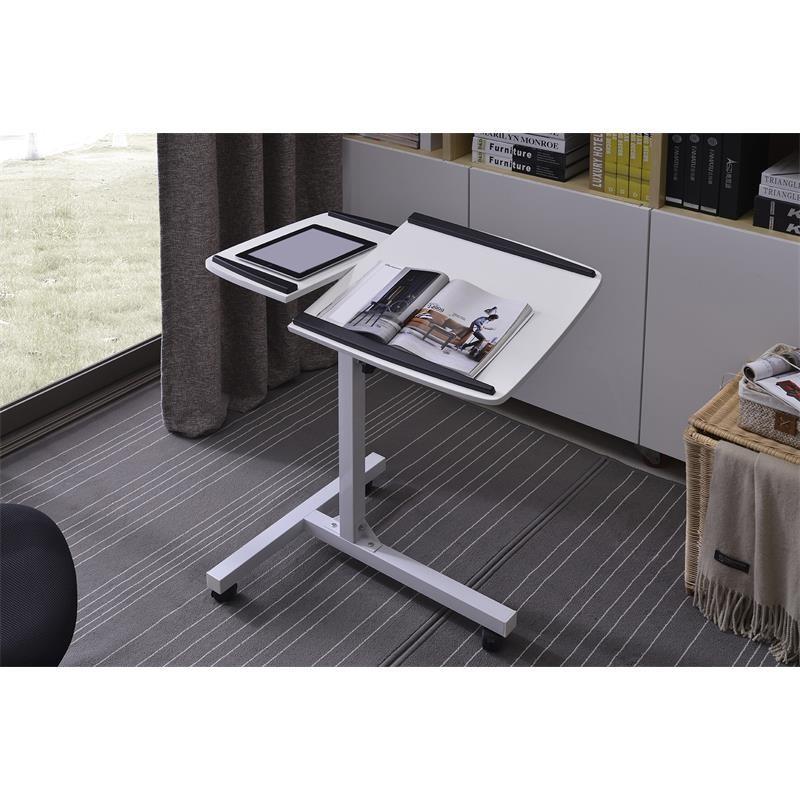 Table d 39 appoint informatique blanche - Table d appoint pour ordinateur portable ...