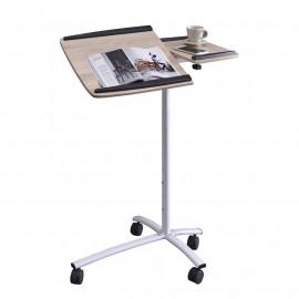 Table d'appoint informatique Aspect chêne