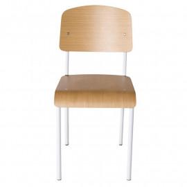 Chaise en Métal – Blanc